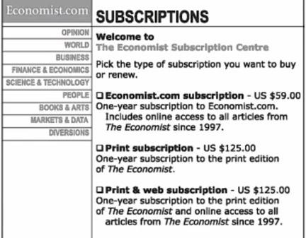 The ecohomist tilbud på abonnement